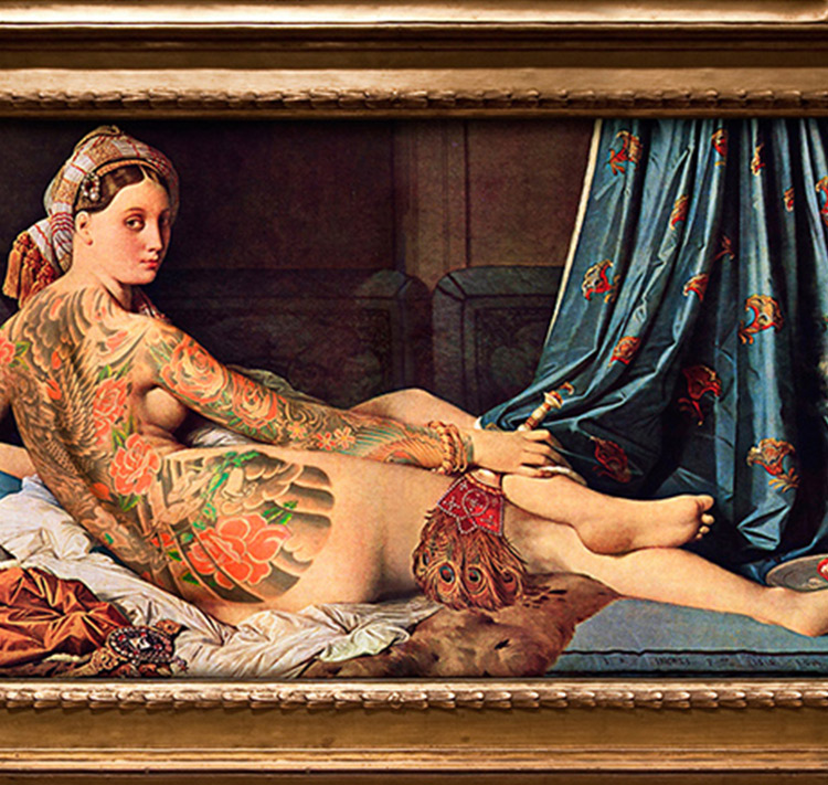 These classic artworks were missing full-body tattoos - obviously