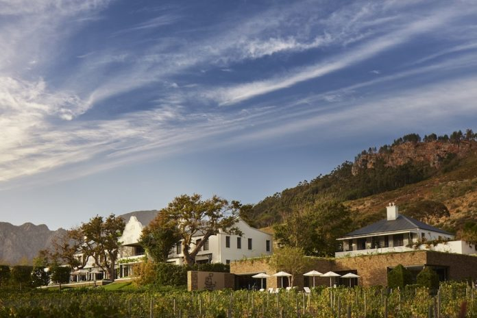 Western Cape hotel named as South Africa's top Wine Country Hotel