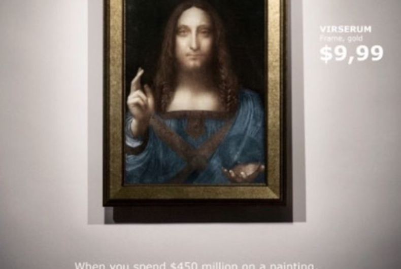 Ikea offers Salvator Mundi buyer chance to bag a bargain