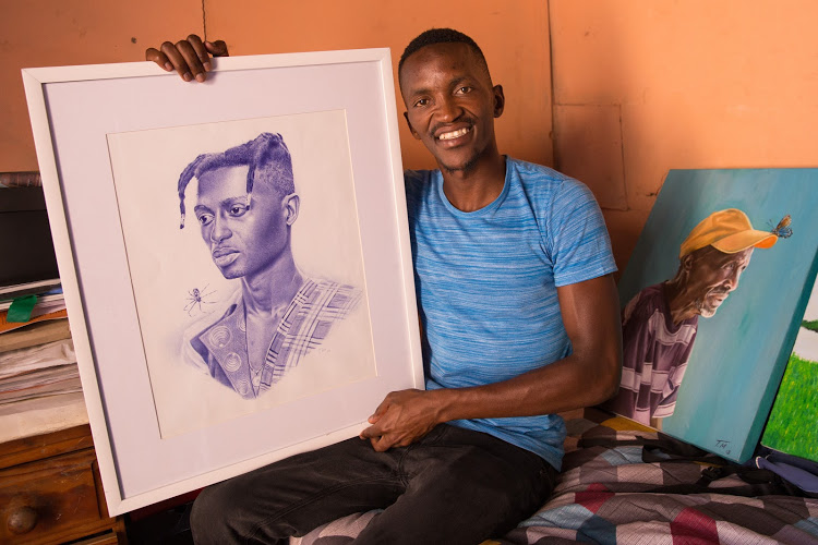 No need for a camera: Nyanga artist uses a ballpoint pen just as well