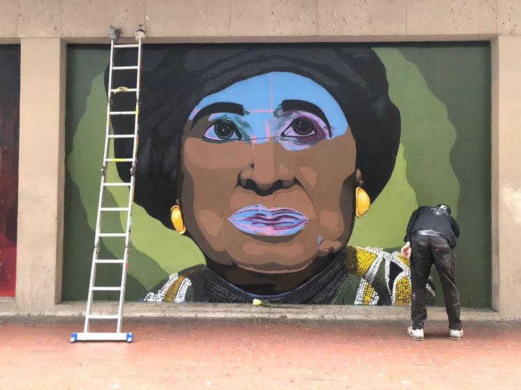 Winnie Madikizela-Mandela mural unveiled in Cape Town