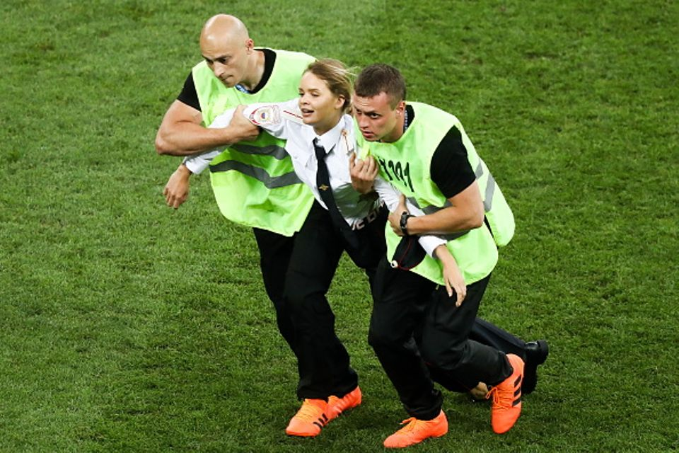 Pussy Riot say they invaded pitch during World Cup final as political protest