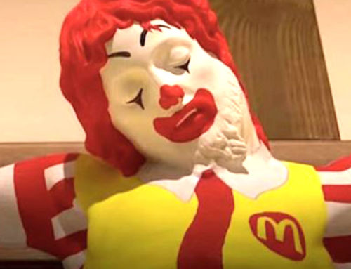 'McJesus' Sculpture Of Ronald McDonald On Cross Outrages Israel's Arab Christian Community