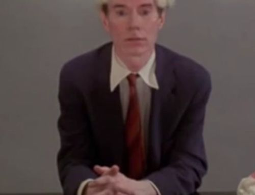 ….ARTFLIX FEATURE: Andy Warhol eating a hamburger****